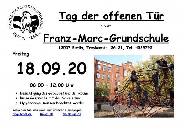 Plakat »Tag der offenen Tür« FMG 2020