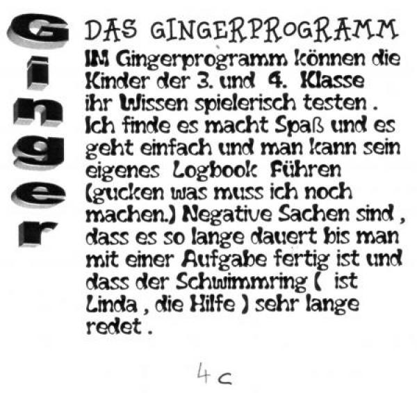 Ginger Computerlernprogramm (Bild © FMG)