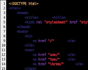 HTML-Code (Bild © Reisio – Wikimedia Commons CC-BY-SA)