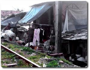 Der Slum, in dem die Kinder der HSC-School leben (Bild©Lehman)