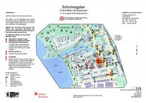 Schulwegplan für die FMG (Grafik © CÖGA)